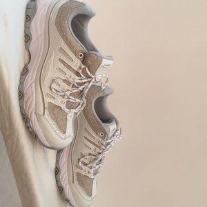 Gold sparkle tone Ladies Avia shoes